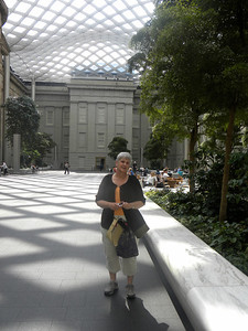 June 23, 2010 - (The National Portrait Gallery / Washington D.C.) -- MaryAnne in the courtyard