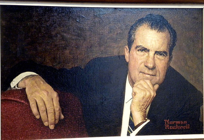 """June 23, 2010 - (The National Portrait Gallery / Washington D.C.) -- """"President Nixon"""" painting by Norman Rockwell"""