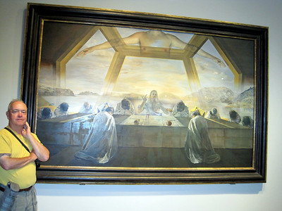 """June 25, 2010 - (National Art Gallery [East Wing] / Washington D.C.) -- David with Salvador Dali's """"Last Supper"""" painting"""