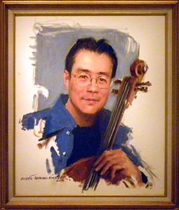 "June 23, 2010 - (The National Portrait Gallery / Washington D.C.) -- ""Yo Yo Ma"" painting"