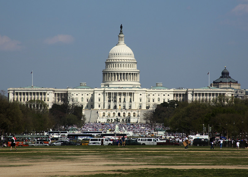 The west facade of the U.S. Capitol Building.