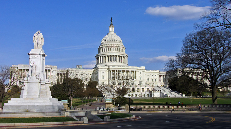The west facade of the U.S. Capitol Building