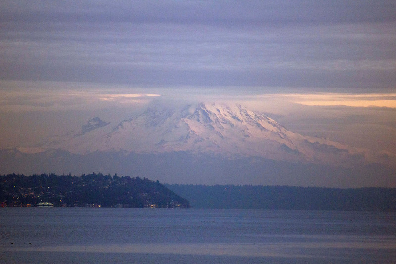 Mount Rainer as seen from the Bainbridge Island, WA State Ferry ~5:30PM