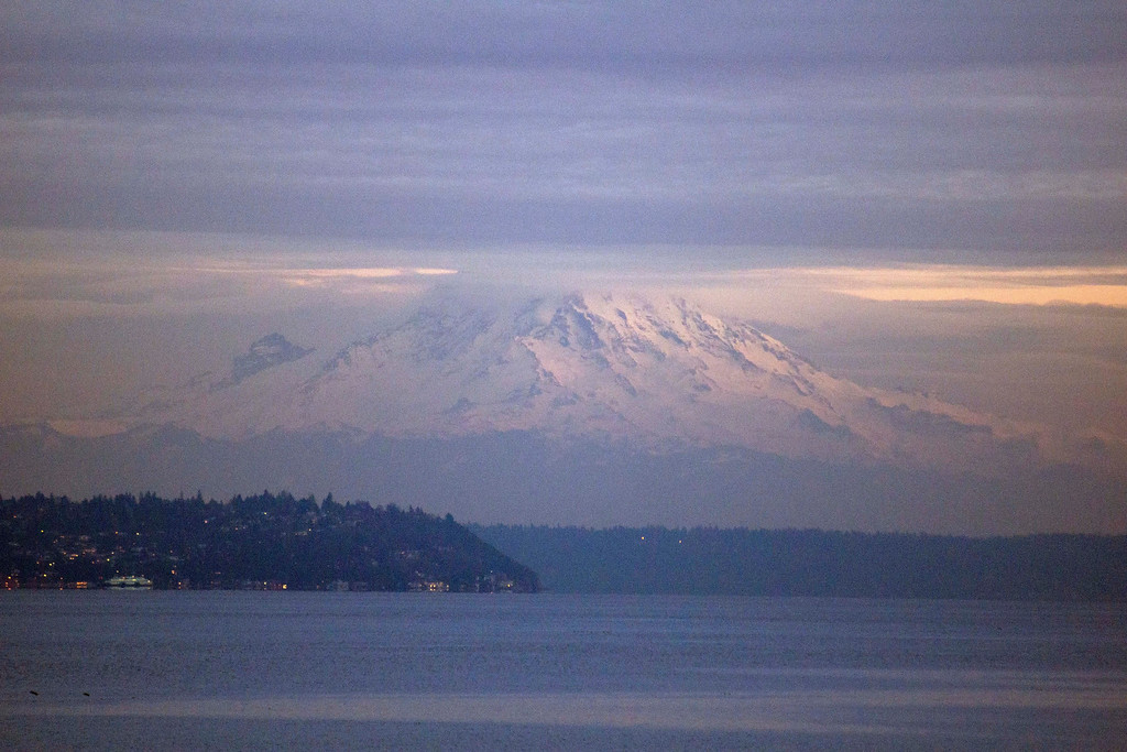 Mount Rainer as seen from the Bainbridge Island, WA State Ferry ~5:30PM