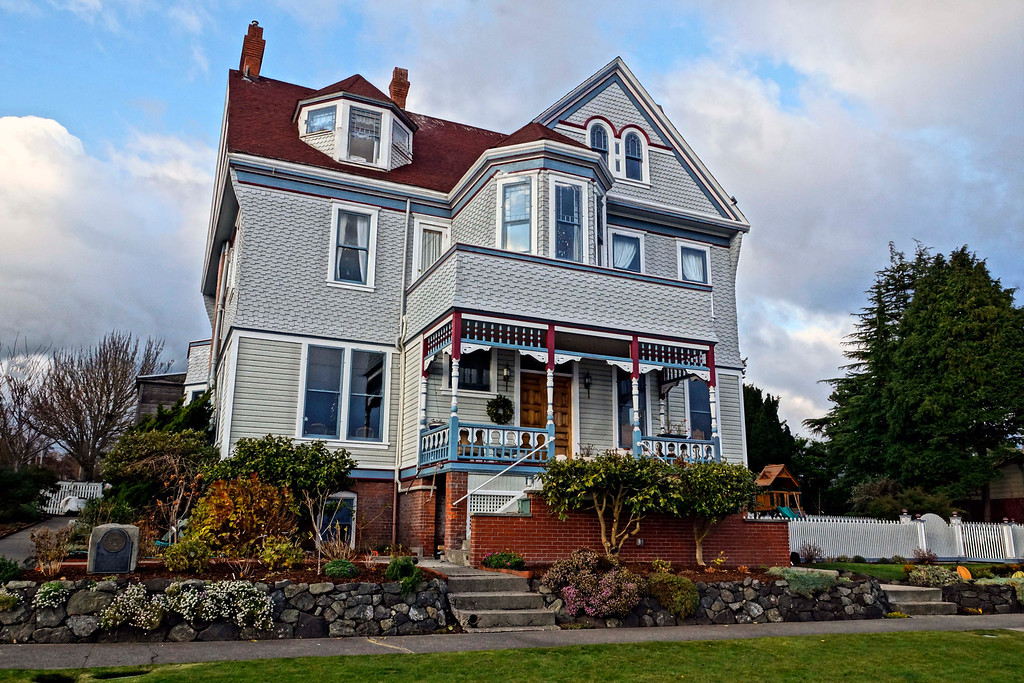 Quaint old house overlooking Port Townsend Bay, December 2011