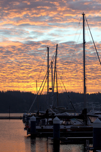Dawn, as seen from Bremerton WA, Sinclair Inlet looking south east