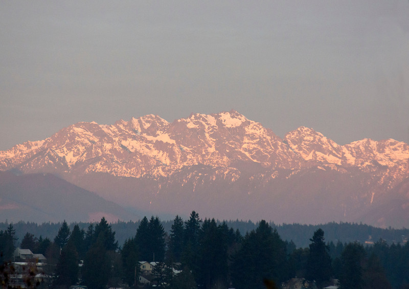 Dawn, The Olympic Mountian Range as seen from Bremerton WA