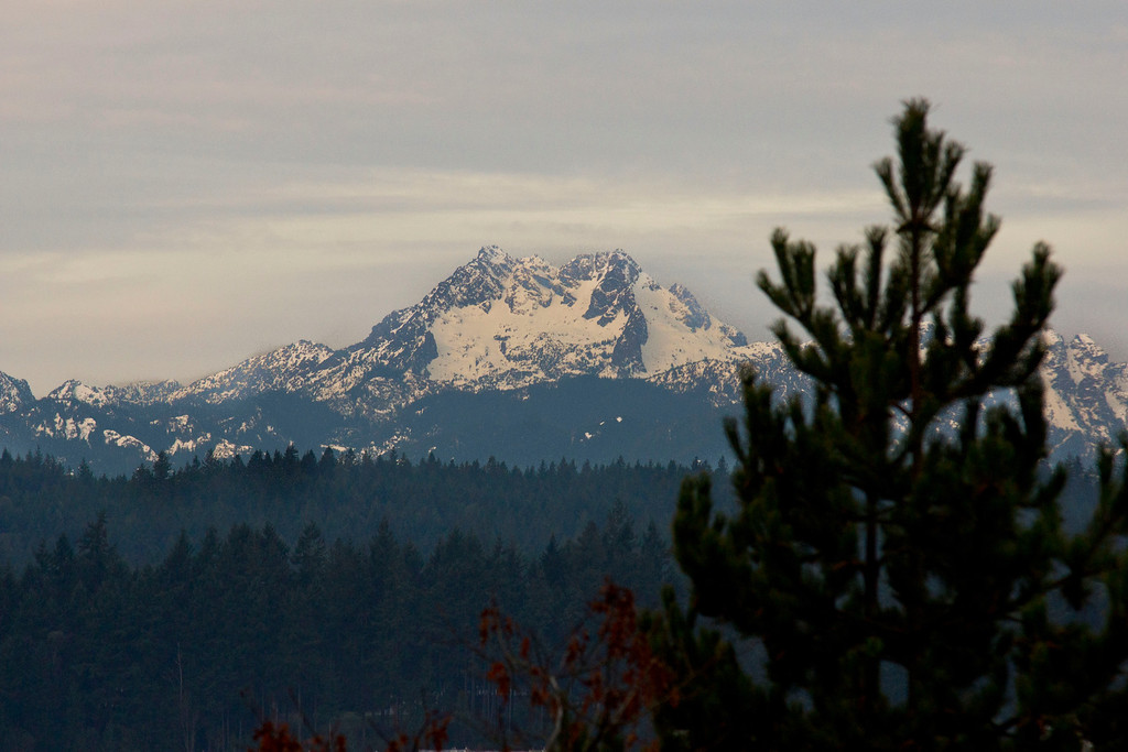 The Olympic Mountain range as seen from western Silverdale WA