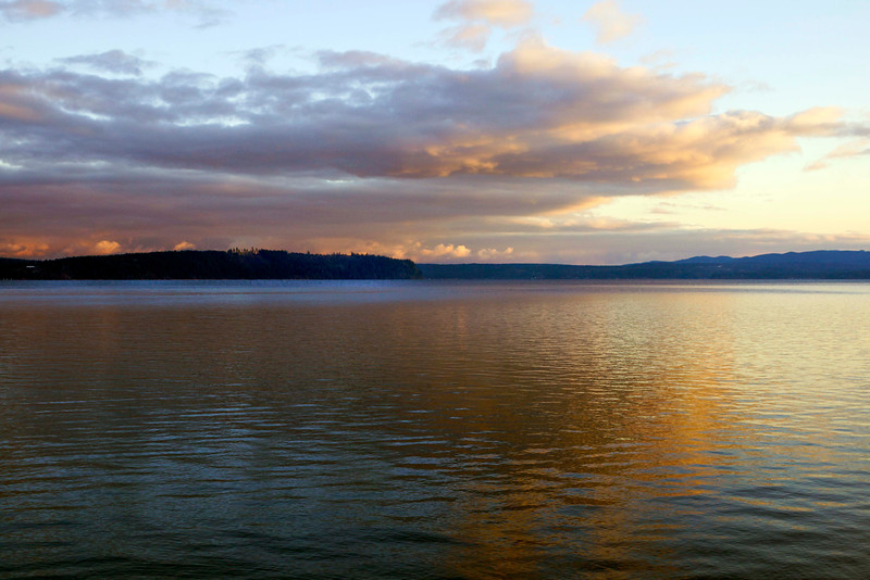 Dabob Bay at sunset (December 2011)