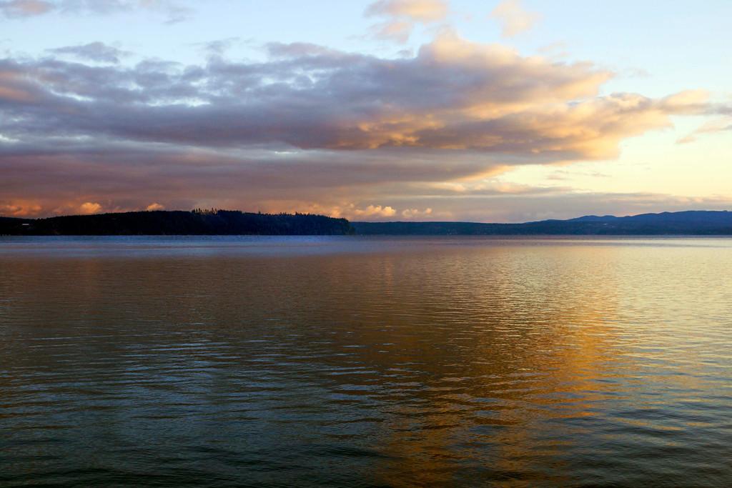 Dabob Bay at sunset (December 2011)