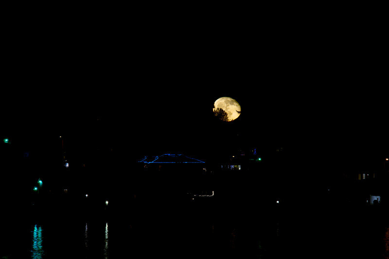 Moon rise over Sinclair Inlet, Bremerton WA