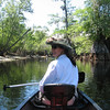 Me with my Easter bonnet on the Suwannee.