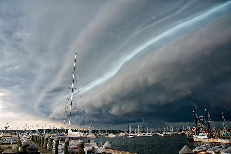 Wall Cloud over Newport Rhode Island