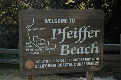 Pfeiffer Beach Park, a beautiful spot on the coast
