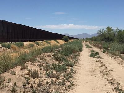 Border Wall @ Rio Bosque Wetlands Park