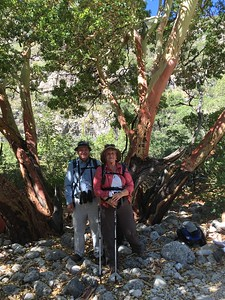 David and MaryAnne resting in the shade @ McKittrick Canyon Trail