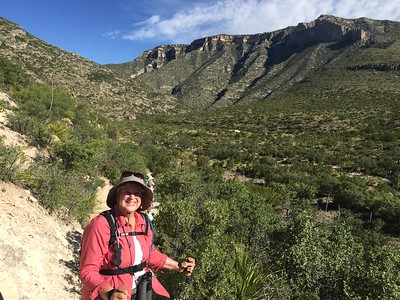 MaryAnne on McKittrick Canyon Trail