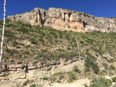 Cliffs above McKittrick Canyon Trail