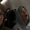 he always falls asleep upon final descent