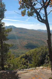 Albany NH - Boulder Loop Trail scenic view from the ledges at the top of the trail