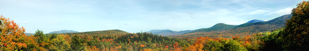 Kancamagus Highway - Scenic Rest Area a splash of Autumn colors