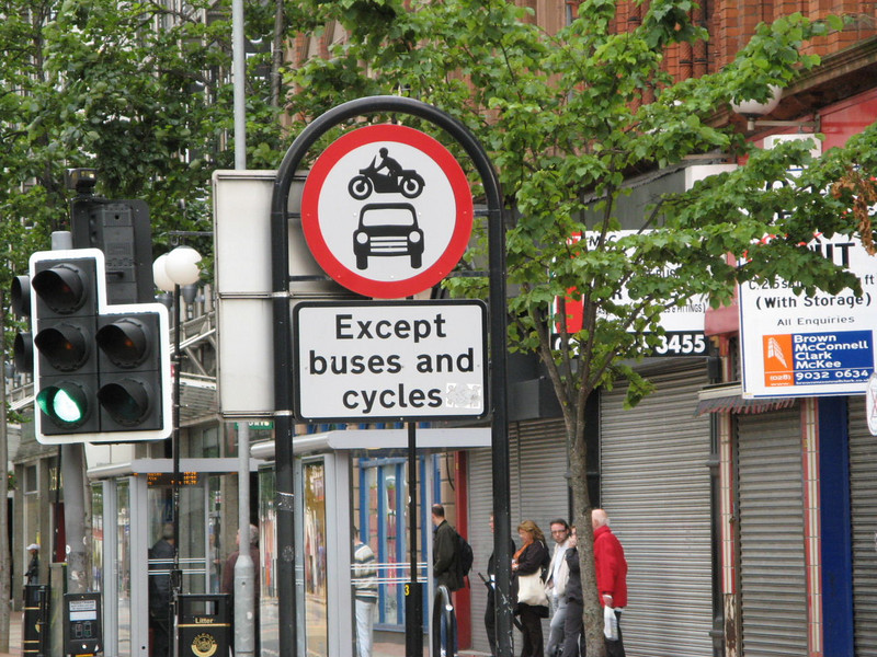 Jump cars in your motorcycle!  Except buses and cycles.