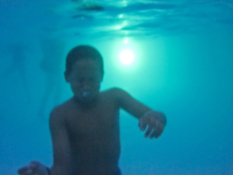 troy blowing a bubble under water...and my camera not feeling well.