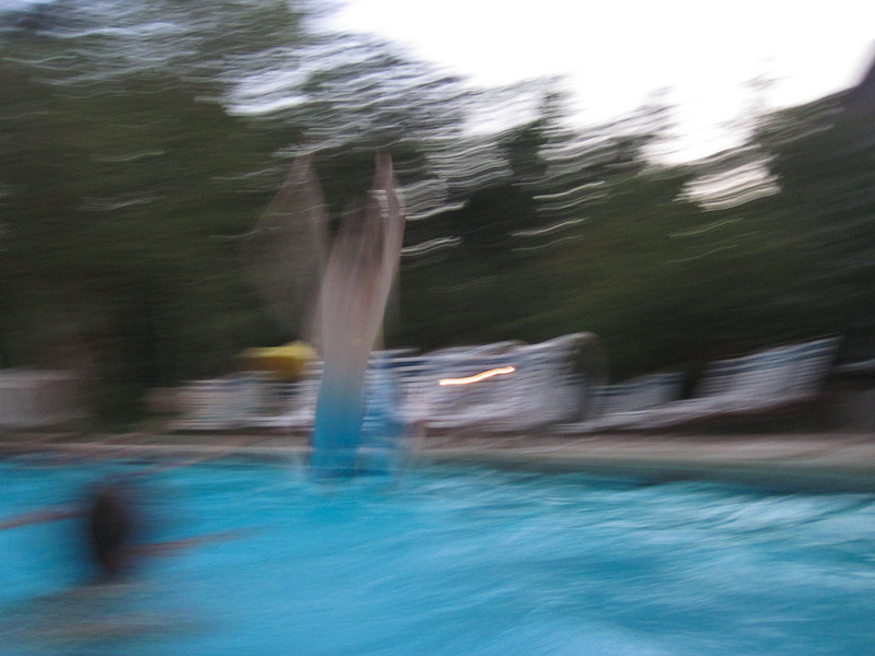 I know its blurry, but doesn't it kind of look like Tommy is flying?