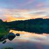 Sunset at Miller Lake