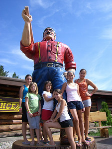 Paul Bunyan protects the girls