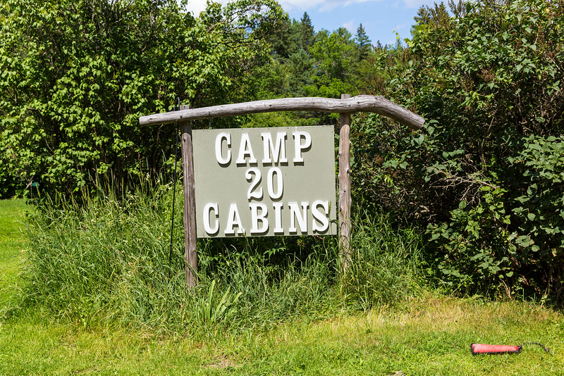Camp 20 Cabins, original homestead of the Collins' located where logging Camp 20 was.