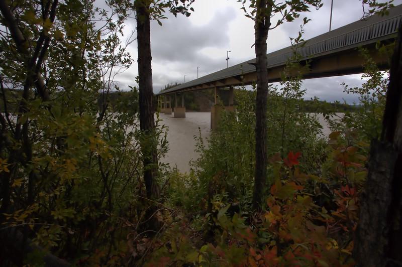 The bridge over the Yukon River.