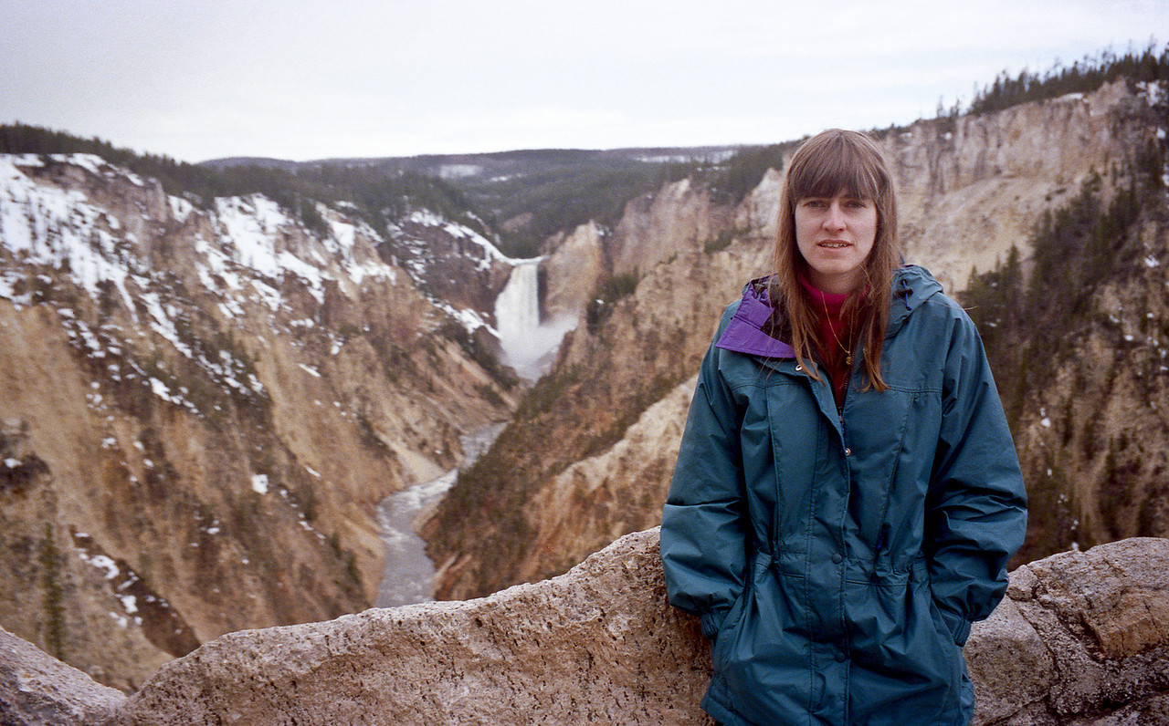 Barb and Yellowstone canyon in background