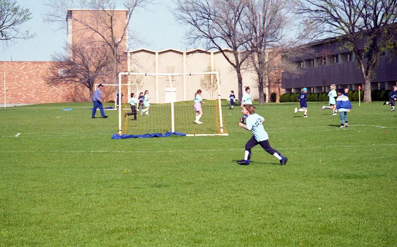 David at a soccer game