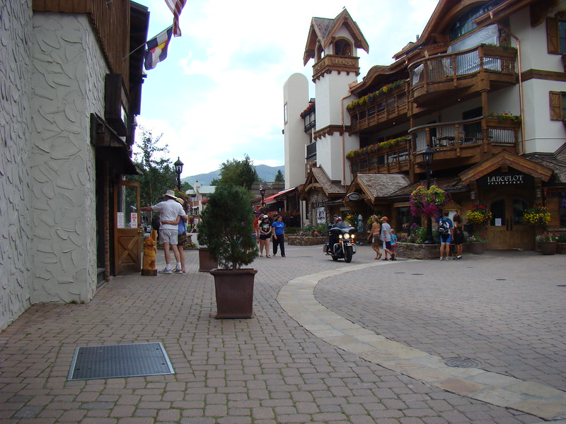 Looking down one of the shopping streets in Vail.