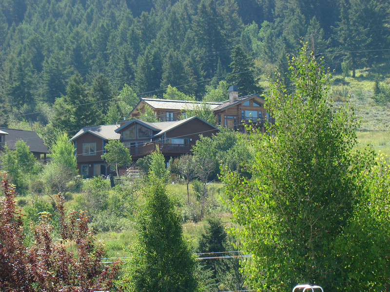 Some of the nicer houses in Jackson, Wy.