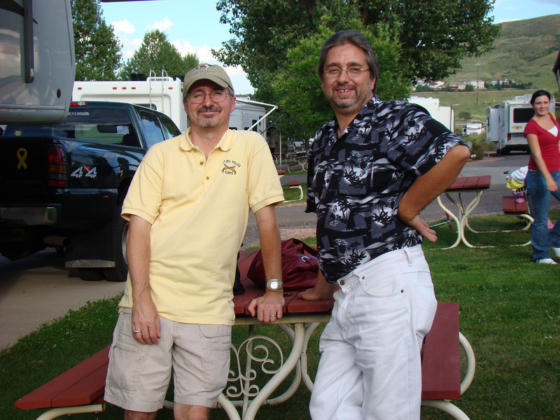 My brother Rick and I at the camper in Golden CO, when Roe and I went to visit his family.