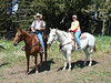 Roe and I on the 2nd horseback riding tour.