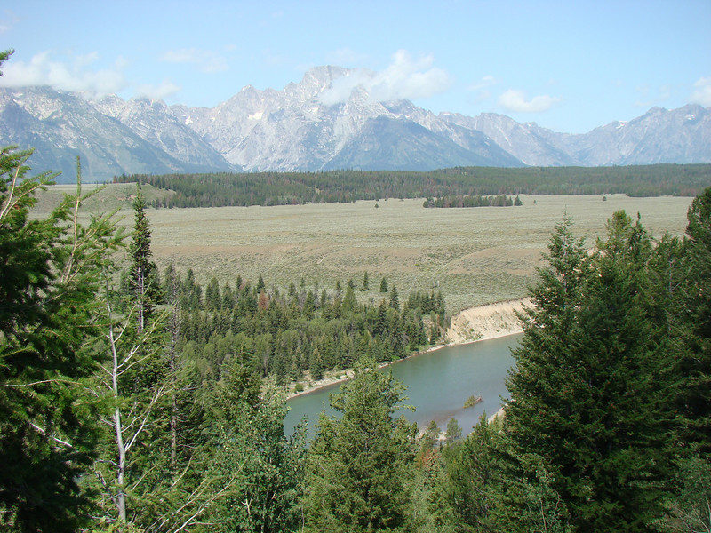 The Snake River with the Grand Tetons in the background.