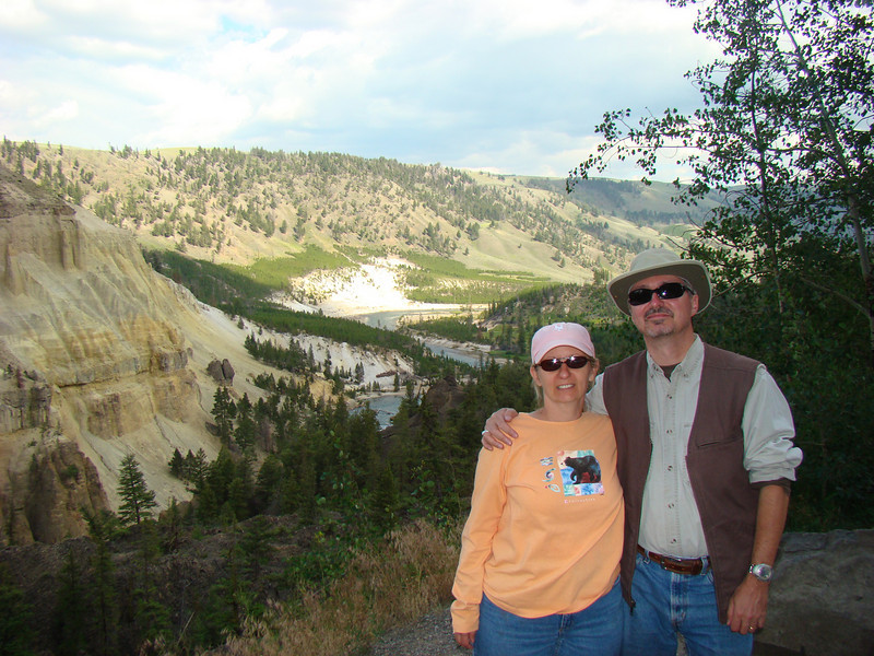 Roe and I overlooking the Yellowstone River.
