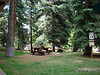 Small park near the covered bridge in Vail.