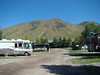 This is a view from the front of our trailer when we stayed in Jackson Hole, Wy.