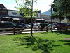 The shopping area in Jackson Hole.