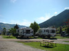 Our trailer (the one on the left) in Jackson Hole, Wy.