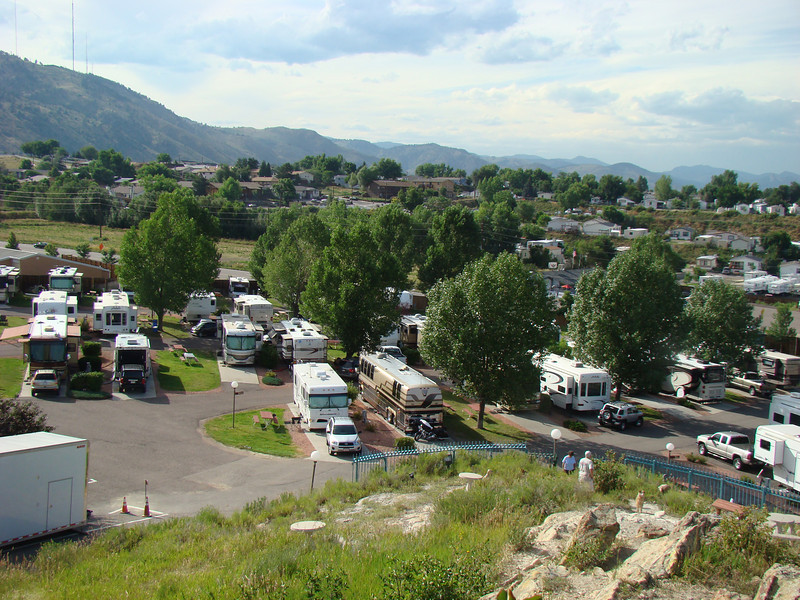 The view of the RV park from the hill.