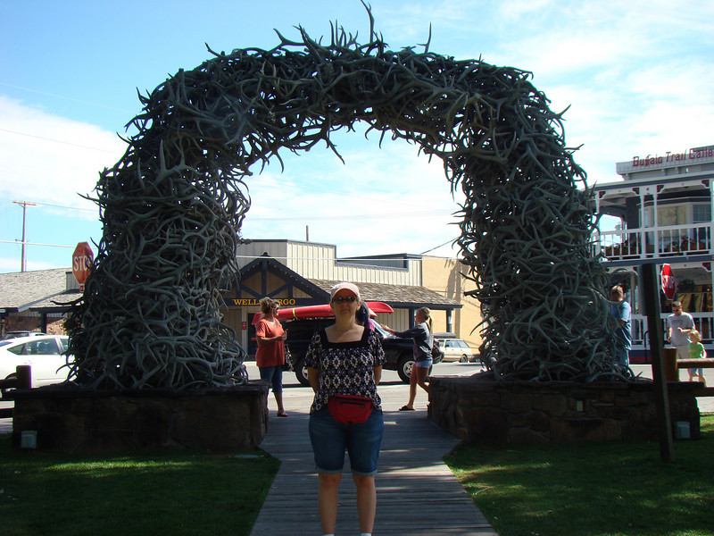 Roe infront of the Antler Arch.
