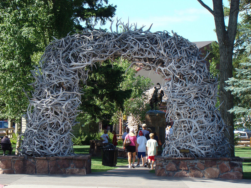 The Antler Arch in Jackson Hole's town square.