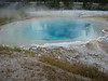 One of the hot water pools near Old Faithfull in Yellowstone.