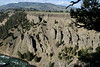 """Cool lava rock formations in the """"Grand Canyon"""" of Yellowstone over the Snake River"""
