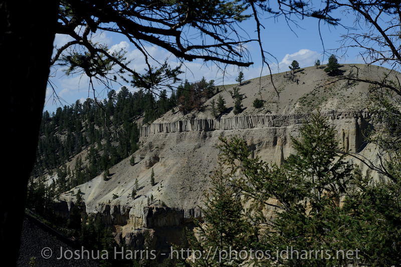 """Cool lava rock formations in the """"Grand Canyon"""" of Yellowstone"""
